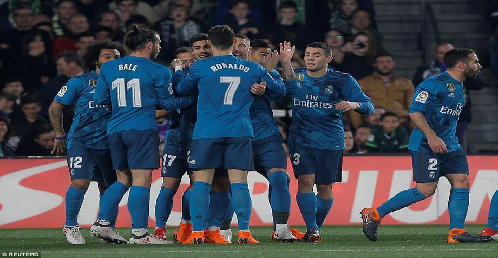ريال مدريد يثأر من بيتيس بخماسية في الدوري الإسباني